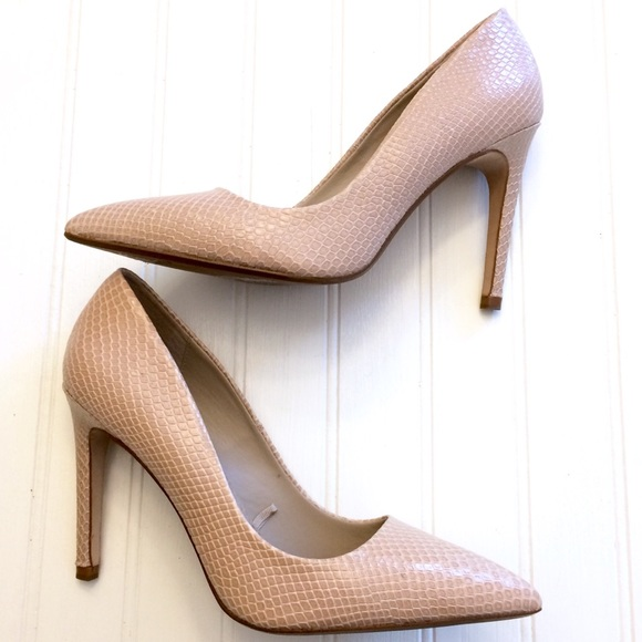 9daf742a3849 Zara nude taupe snake print pointed toe pumps. M_5b5258477c979d2d67bc2902